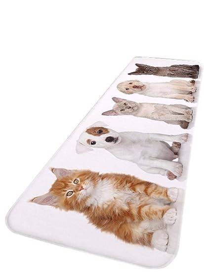A.Monamour Linda Mascotas Perros Gatos Animales Amante Tema Impresión Antideslizante Suave Franela Absorbente Piso