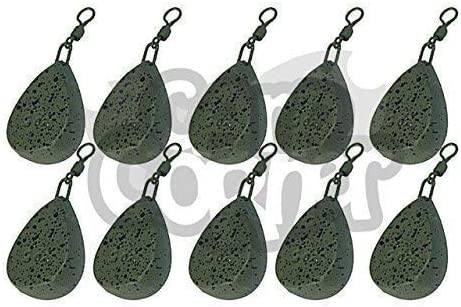 10 x Carp Fishing Leads 1.5-4oz Tri Bomb Style Ledger Weights With Swivel NGT