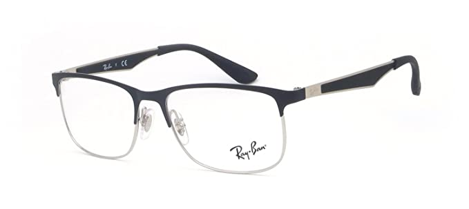 Amazon.com: Ray-Ban RY1052 Eyeglass Frames 4055-49 - Silver Top ...