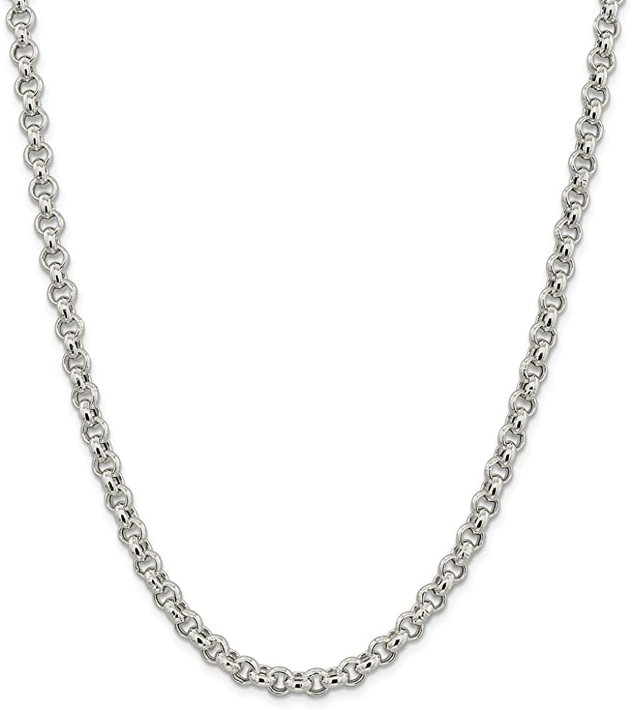 925 Sterling Silver 6.5mm Rolo Chain Necklace