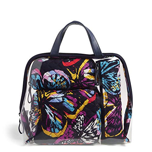 Vera Bradley Iconic 4 Pc. Cosmetic Organizer, Signature Cotton, Butterfly Flutter, Butterfly Flutter, One Size -