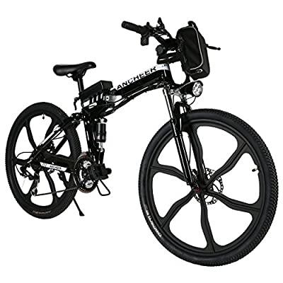 Ancheer 36V 250W Electric Bicycle Lithium-Ion Battery Electric Mountain Bike 26 inch