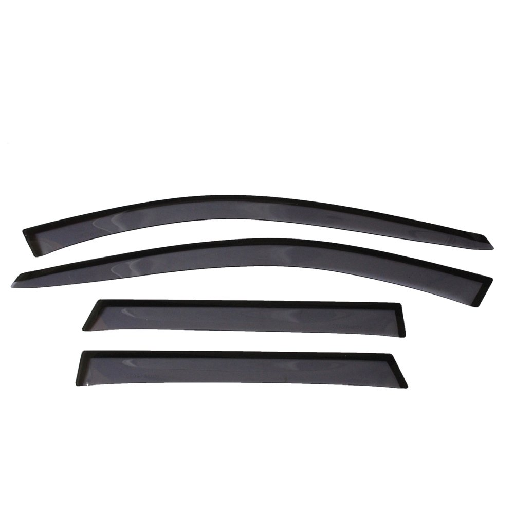 Sun/Rain Guard Smoke Vent Shade Deflector Window Visors Slim Style For 2003-2013 Audi A3 Hatchback 4PCS Amooca
