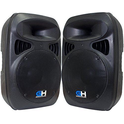 Grindhouse Speakers - GH-P12-Pair - Pair of Active 12 PA DJ Speaker Cabinets - Powered 500 Watt each Loudspeaker for Pro Audio Bands DJ Karaoke club [並行輸入品] B076YZFXL3