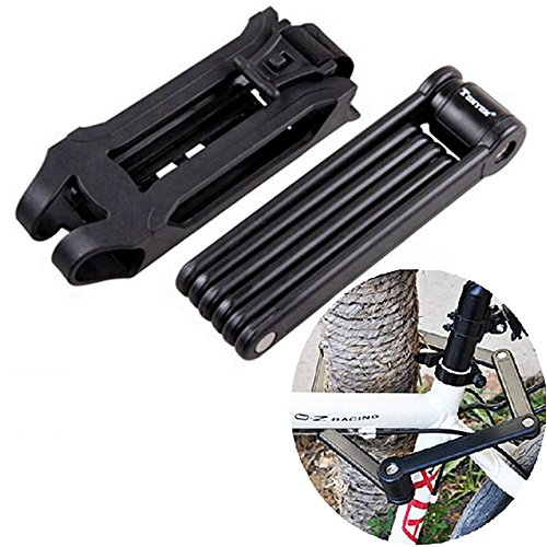 Best Bike Accessories High Strength Bicycle Lock Anti-Thief 6 Joints Foldable Bike Lock High Strenth Alloy Steel ABS Lock Shelf Attach Tthe Lock Body Perfectly