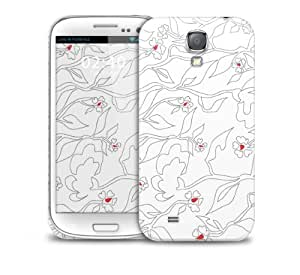 Red Flowers Samsung Galaxy S4 GS4 protective phone case