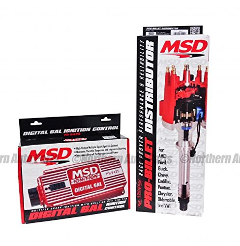 MSD 6425 85551 Combo Kit Inc. 6AL box with Pro Billet Distributor