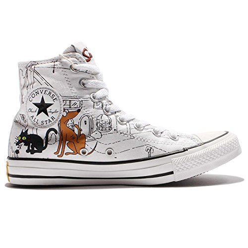 Converse All Stars Chuck Taylor Color: Blau, Gelb, Weiss THE SIMPSONS 146809 BART SIMPSON Gr: EU: 43 UK: 9,5 Limited Edition
