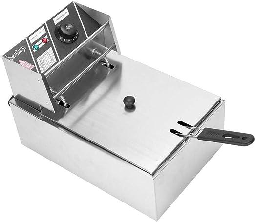 2500W 6.3QT Electric Countertop Deep Fryer Basket Restaurant 6 Liter