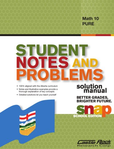 Student Notes and Problems Solution Manual Math 10 Pure