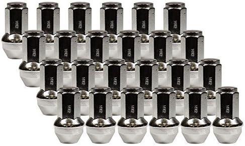 クロムデュプレックスバルジコーンシートロック&ラグ取り付けキット (ナット20個&ロック4個) 14mm 2.00 スレッドピッチ2.12インチ 長さ21mm 六角