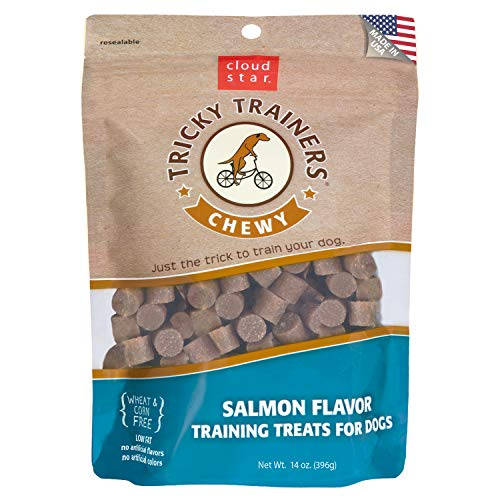 (Cloud Star Chewy Tricky Trainers Salmon Flavor Training Treats for Dogs 14)