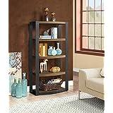 Whalen Furniture Santa Fe Storage Shelf and Audio Tower Stand