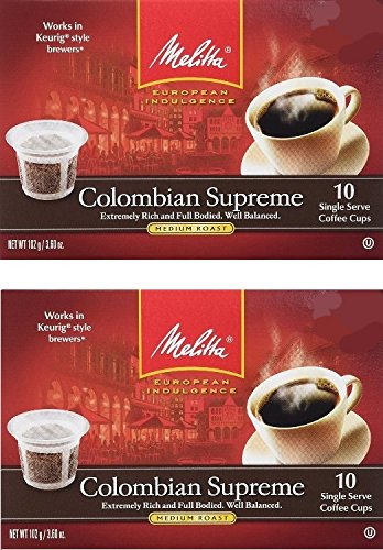 melitta single cup coffee for k cup brewers cafe de europa blanc et noir light. Black Bedroom Furniture Sets. Home Design Ideas