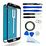 SAMSUNG GALAXY NOTE 2 N7100 BLACK DISPLAY TOUCHSCREEN REPLACEMENT KIT 12 PIECES INCLUDING 1 REPLACEMENT FRONT GLASS FOR SAMSUNG GALAXY NOTE 2 N7100 / 1 PAIR OF TWEEZERS / 1 ROLL OF 2MM ADHESIVE TAPE / 1 TOOL KIT / 1 MICROFIBER CLEANING CLOTH / WIRE