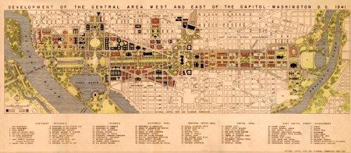 1941 City Map - Antiguos Maps Washington DC City Map Circa 1941 - Measures 24