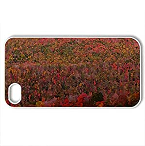 autumn mountain - Case Cover for iPhone 4 and 4s (Mountains Series, Watercolor style, White)