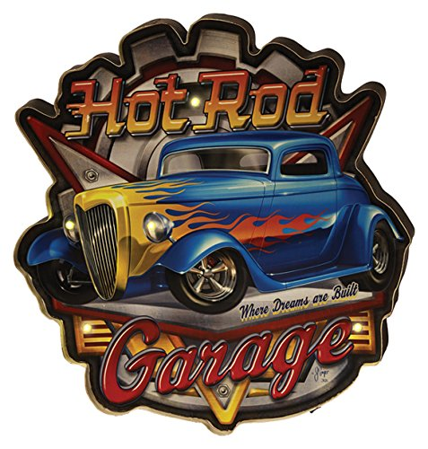 River's Edge Products Hot Rod Garage LED Bar Sign