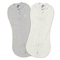 SwaddleMe Pod 2-PK, Grey Star Dot (NB)
