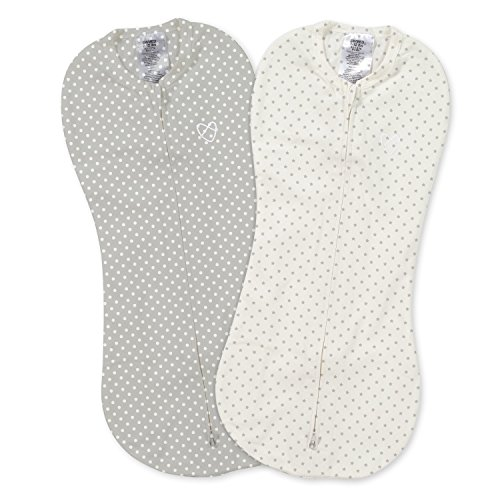 SwaddleMe Pod 2-PK, Grey Star Dot ()