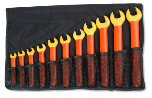 Cementex Ioews-11 Insulated Sae Open End Wrench Set 11-Piece