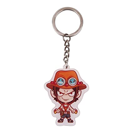 Bowinr One Piece Key Chain, Super Kawaii Anime Keychain Keyring for Kids  Teens Adults and Anime-Fans(Portgas D Ace)