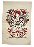 Handmade Nepalese Lokta Paper Yoga Meditate Interior Wall Décor Poster (Medicine Buddha)
