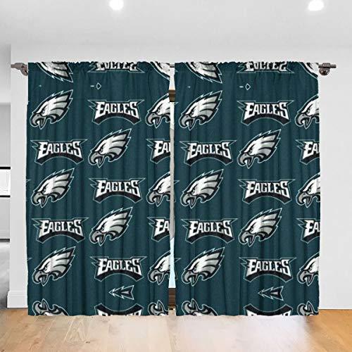 YQIGBZI Cotton Broadcloth Philadelphia Eagles Curtain 52