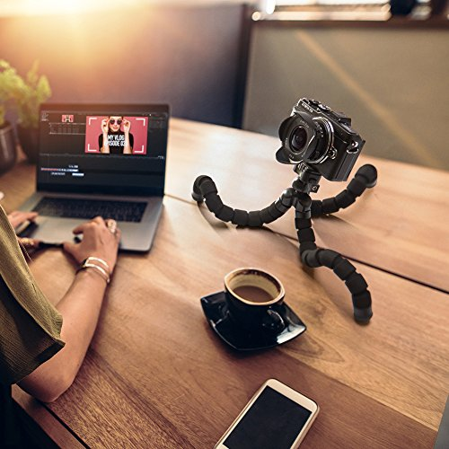 Smartphone Flexible Tripod iKross Compact Tripod Stand Mount Holder with Adapters For Smartphone, iPhone/Digital Camera/GoPro Hero All Version by iKross (Image #1)