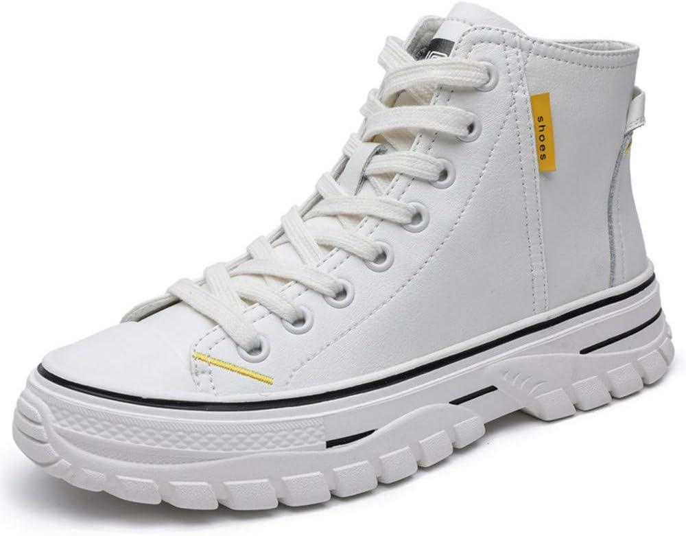 XiXia XZapatillas de Deporte de Mujer Zapatillas de Calle de Cuero de caña Alta Zapatillas Deportivas Zapatos Casuales Ligeros: Amazon.es: Hogar