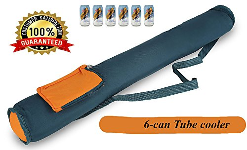 mnm-home-easy-carry-insulated-6-can-tube-sleeve-cooler-with-shoulder-strap-orange