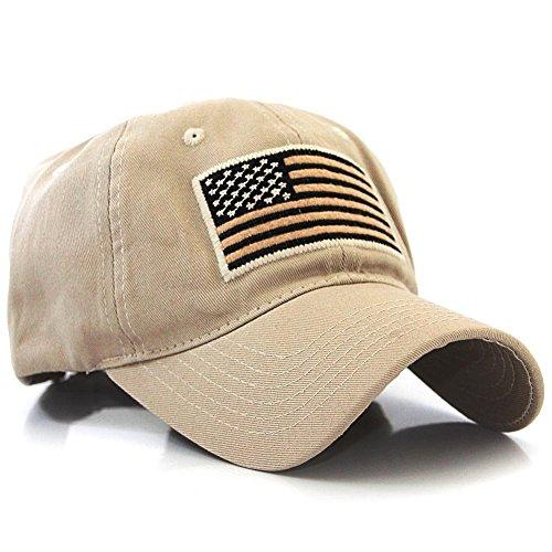 Desert Camo Baseball Cap (US Flag Patch Tactical Style Cotton Trucker Baseball Cap Hat)