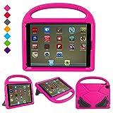 New iPad 9.7 Inch 2017 / iPad Air 2 / iPad Air Case, Ubearkk Kids Friendly Light Weight Shock Proof Convertible Handle Stand Cover for Apple New iPad 9.7' 2017 Model, iPad Air 2, iPad Air (Pink)