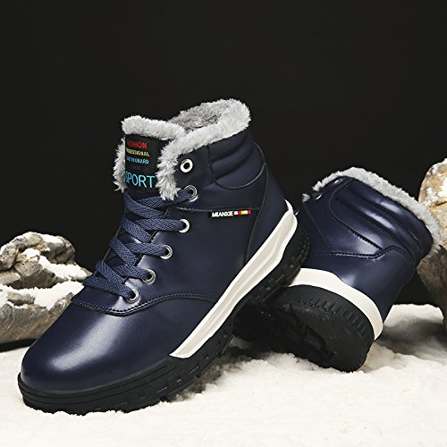 Nieve Iinvierno Impermeables Nuevo Mujer Invierno Cálido Botas Deportes De Senderismo Azul2 Calzado Dogeek Clásico nqZIRgAZWx