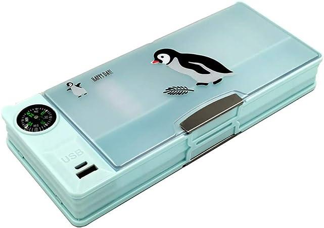 MoGist - Ventilador de Mesa multifunción con USB para Cargar un Estuche de lápices, 22,5 x 9,5 x 3,5 cm: Amazon.es: Hogar