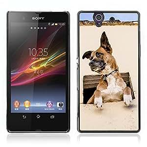 Carcasa Funda Case // V0000876 Dog Puppy Pattern // Sony Xperia Z L36H L36I