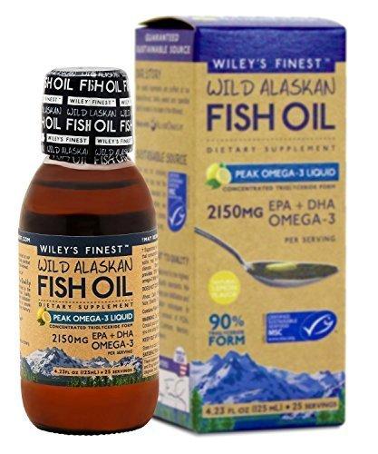 Wileys Finest - Wild Alaskan Fish Oil Peak Omega 3 Lemon, 2150 mg, 4.23 fl oz liquid by Wiley's Finest