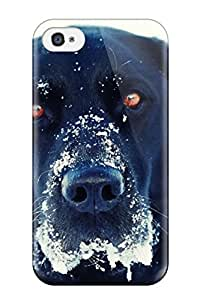New Black Dog In Snow Tpu Skin Case Compatible With Iphone 4/4s
