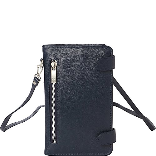 Navy Organizer Piel Leather With Strap wvFfnxpRqx
