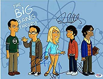 The Big Bang Theory Cast Signed 11x14 Photo Certified Authentic PSA/DNA COA