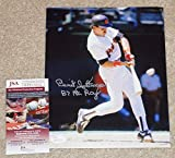 """BENITO SANTIAGO""""87 NL ROY"""" Signed PADRES 8x10 Photo + COA WPP170532 - JSA Certified - Autographed MLB Photos"""