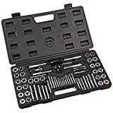 TruePower 02-0554 Alloy Steel SAE/Metric Tap and Die Set, 60 Piece