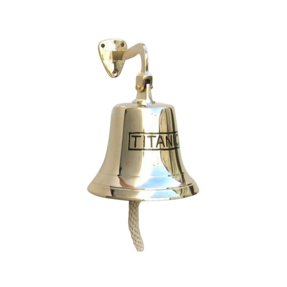 Solid Brass Ships ''TITANIC'' Bell, Jumbo - Nautical Decor