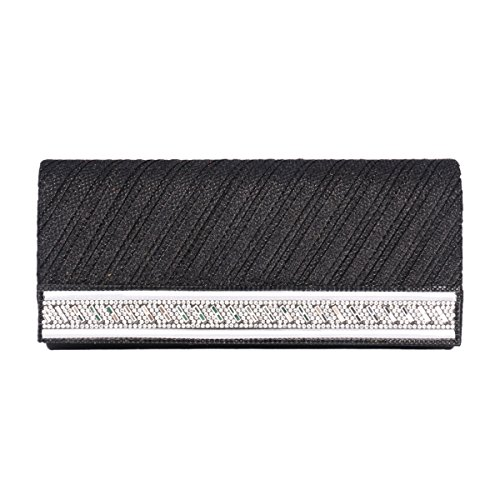 Party Women Clutch Black Diamond Saturn Fabric Evening Bag of Day SwqTOg4O