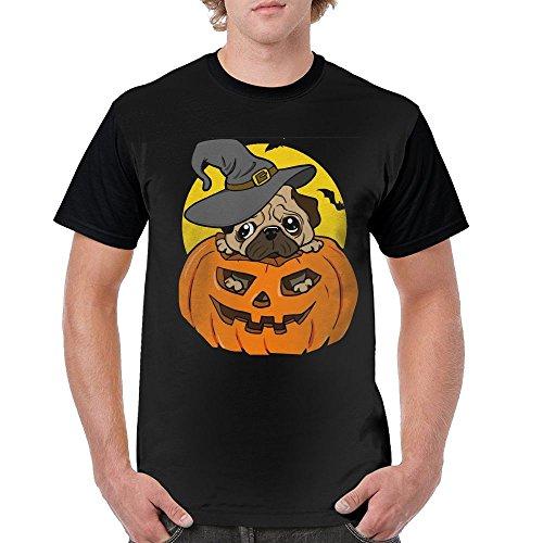 - EmdpZc Man Halloween Pug Dog Summer T-Shirt Comfort Tshirt