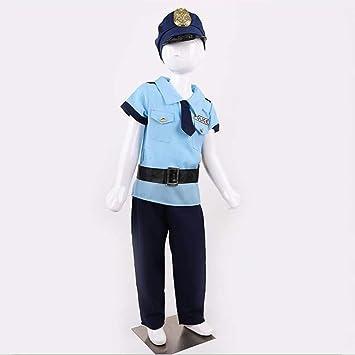 Toyvian - Disfraz de policía para niños (Tallas de 120 a 130 cm ...
