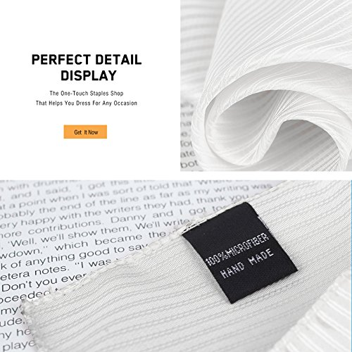 DEIA0004 Designer Stripes Microfiber Birthday Gifts for Mens Hanky Set 5 Hankerchiefs Set-Pink, Dark Orange, Grey, Beige, White By Dan Smith by Dan Smith (Image #4)