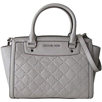 a0f278f01a2027 Amazon.com: Michael Kors Studded Med Sandrine Satchel Leather Pearl ...