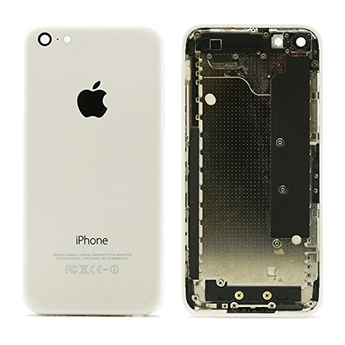 OEM Back Panel Housing White Case Cover Compatible for the Iphone 5c (5c Metal Back Housing / Back Panel Cover / Housing Assembly) (Iphone 5c Replacement Cover compare prices)
