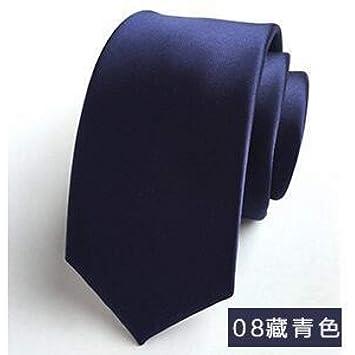 DYDONGWL Corbata Fina Hombre,Color sólido Corbata Versión ...